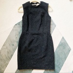 COMME DE GARÇON Black/Grey Wool Stealth Dress S/4